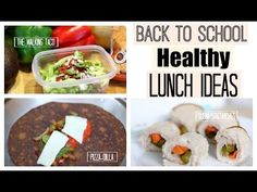Back to School: HEALTHY + EASY LUNCHES in UNDER 5 MINUTES!