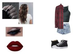 """Untitled #162"" by paige-york0215 ❤ liked on Polyvore featuring beauty, Lost & Found, Topshop, Converse and Lime Crime"