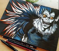 Tokyo Ghoul Drawing, Manga Anime, Anime Art, Rick And Morty Stickers, Graffiti Drawing, Aztec Art, Shinigami, Manga Pages, Anime Sketch