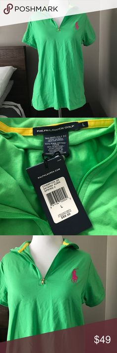 Ralph Lauren Golf Big Pony Polo Bright green golf polo from Ralph Lauren. Big pony embroidery. Size L. Brand new with tags. Ralph Lauren Tops Tees - Short Sleeve