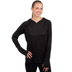 Women's Jockey Sport Helix Jacquard Workout Hoodie, Size: Large, Oxford