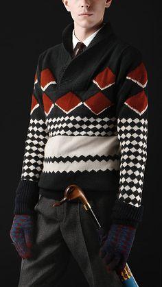 Shawl Collar Sweater, Men Sweater, Male Fashion Advice, Burberry Men, Burberry Prorsum, Blazers, Vintage Outfits, Vintage Fashion, Mens Fashion
