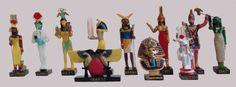 Ancient Egypt Egyptian God 11 Figurines Set Resin Statue size 5 high (Isis-Sothis, Khonsou, Hapy, Chai, Khnoum, Isis, Rechef, Heket, Uraeus, Tutenchamon, Herichef) [Amercom EG-7]