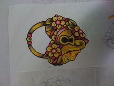 Heart lock tattoo Mel sketch by waistdeep, via Flickr