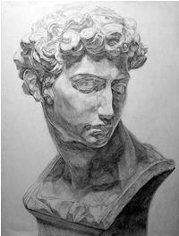 石膏デッサン-メディチの鉛筆デッサン制作過程12 Human Drawing, Basic Drawing, Figure Drawing, Graphite Drawings, Cool Drawings, Drawing Sketches, Pencil Drawings, Roman Sculpture, Sculpture Art