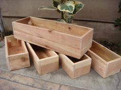 Custom Wood Planters, Table Centerpiece, Flower Boxes, 12 Inch to 60 inch long, 6 inch height, Redwood, Garden planter
