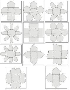 55 Melhores Imagens De Molde Forminhas De Doce Printables Boxes E