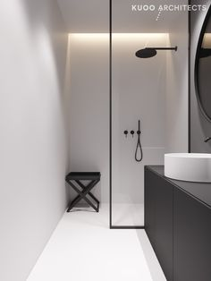 55 Small Bathroom Design and Decor Ideas Minimal Bathroom, Modern Master Bathroom, Modern Bathroom Design, Bathroom Interior Design, Modern Interior Design, Small Bathroom, Serene Bathroom, Light Bathroom, Master Bathrooms