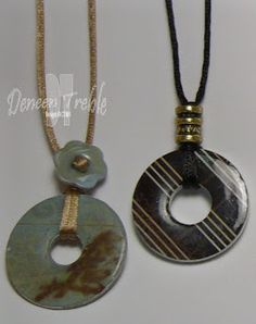 Washer Pendant Necklaces   Love the mix of hardware chic and jewelry DIY