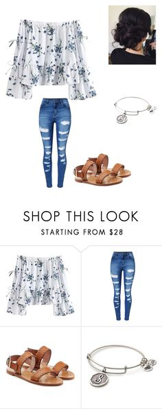 """""""Spring"""" by bestdressed1012 ❤ liked on Polyvore featuring WithChic, RED Valentino and Alex and Ani"""