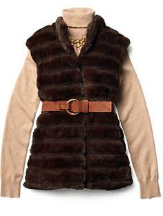 Faux-Fur Vest #Talbots