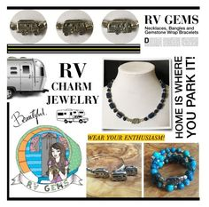 """#Motorhome #Airstream / #TravelTrailer Charm #Jewelry by #RVGems"" by rvgems ❤ liked on Polyvore featuring Pendleton"
