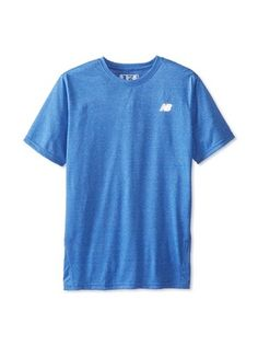 8b210ee6d2cf New Balance Men s Heathered Short Sleeve Tee (Cobalt)