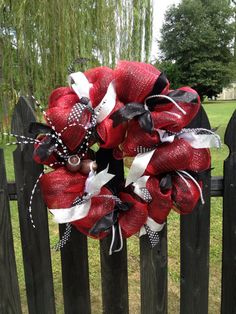 Georgia Football Wreath by TazCreations on Etsy, $60.00