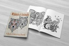 Whimsical Animals | Coloring Patterns | 30 Intricate Patterns | 8.5 x 11 PDF | Download Printable | Adult Coloring Book PDF