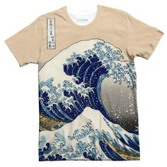 Great Wave off Kanagawa T-Shirt - Shelfies | All-Over-Print Everywhere - Designed to Make You Smile