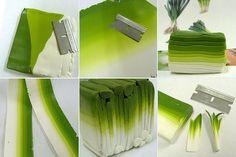 polymer clay tutorial. leek cane. shay aaron.