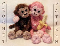 Cuddly Monkey PDF Crochet Pattern por luvbug026 en Etsy