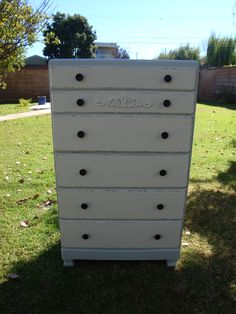 SHABBY CHIC/FRENCH STYLE, DRESSER 6 DRAWERS FRENCH GRAY COLOR