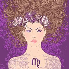 Paper - Signe Astrologique Vierge - Virgo by Varvara Gorbash Virgo Art, Zodiac Art, Astrology Zodiac, Zodiac Signs, Virgo Horoscope, Astrological Sign, Virgo Love, Zodiac Love, Virgo Pictures