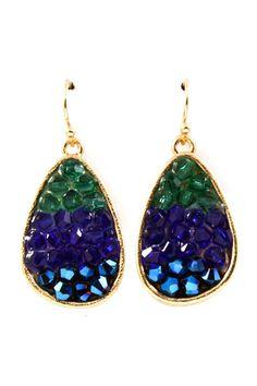 Colorant Teardrop Crystal Earrings | Emma Stine Jewelry Earrings
