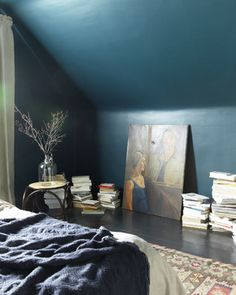 Moody Bedroom - eclectic - bedroom - toronto - Jenn Hannotte / Hannotte Interiors