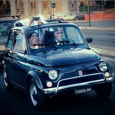 Fiat 500 wedding car! ❤
