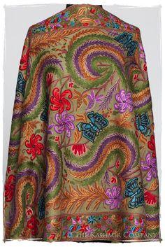Papillon Cachemire Mosstone Antiquaires Shawl