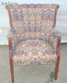 BEFORE & AFTER: REUPHOLSTERED CHAIR