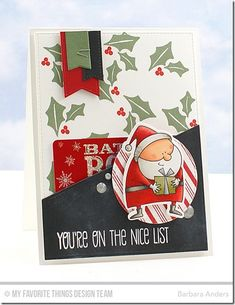 card christmas santa, MFT Jingle all the way Die-namics, Merry Everything card gift card santa -Creative Construction With Blueprints Presentable Presents Holiday Cards, Christmas Cards, Money Cards, Jingle All The Way, Winter Cards, Custom Cards, Handmade Christmas, Homemade Cards, Making Ideas