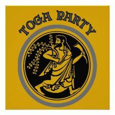 ancient greek party invites | TOGA PARTY | Greek Goddess & Peacock Toga Party Invitation | Greek Key ...
