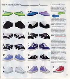 Slip-on shoes from a '90s Delia's catalog.