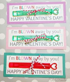 Such a darling non-candy Valentine!! Free Printable for bubbles!