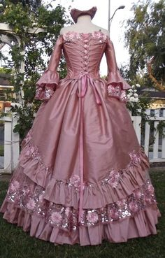 New! Dusty Rose Fantasy Floral Sparkle Gown...custom