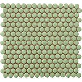 """Found it at Wayfair - Penny 3/4"""" x 3/4"""" Porcelain Glazed and Glossy Mosaic in Moss Green"""