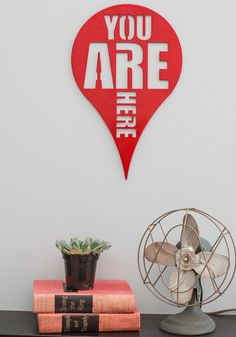 Here and Now Wall Decor. Need a playful reminder to stay present?
