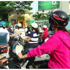 7 30 am Saigon morning traffic Riding Helmets, Vietnam, Meet, Places, Travel, Instagram, Viajes, Destinations, Traveling