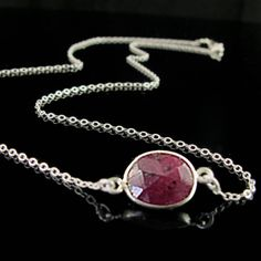 Simple Faceted Genuine Ruby Solitaire by WexfordAccessories, $58.00