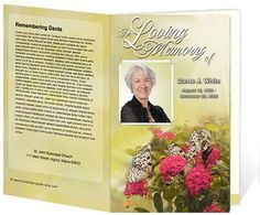 93 best memorial service images on pinterest brochure template