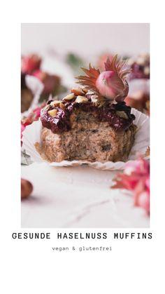 Super leckere Muffins, mit viel Haselnuss und gesund. Vegan, glutenfrei und zuckerfrei. Schnell zubereitet und ein toller Snack zwischendurch!