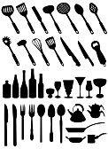 ollas de cocina : conjunto de vectores de herramientas de cocina