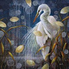 Catherine Earle - Sense of Purpose, 2016 Bird Artwork, Painting Gallery, Magic Art, Watercolor Bird, Botanical Art, Painting Techniques, Landscape Paintings, Abstract Art, Illustration Art