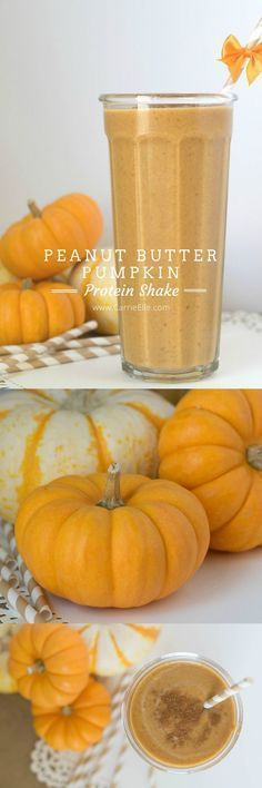 21 Day Fix friendly Peanut Butter Pumpkin Protein Shake - so good and so good for you! Equals 1 red, 1 green, 4 tsps of nut butter.