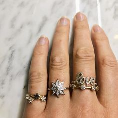 As London gets colder and the nights are longer I enjoy wearing these rings. The diamond stars twinkling at me reminding me that with the darkness also come the stars.  #diamondstar #diamondring #zoeandmorgan #galaxy #lovering