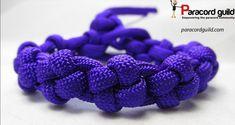 Cross knot paracord bracelet tutorial.
