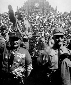 Hitler and Hermann Göring with SA stormtroopers, 1928.