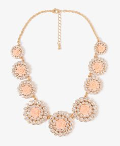 Rhinestoned Rosette Necklace - looks very much like a necklace I saw at J. Crew that retails for much, much more!