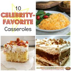There are so many celebrity-favorite recipes to count! Easy Casserole Recipes, Casserole Dishes, Elvis Cakes, Dessert Recipes, Picnic Recipes, Desserts, Weird Food, Picnic Foods, Vintage Recipes