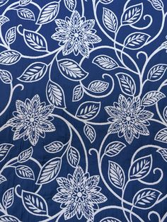 Fabrics featuring images of flowers or plant life in their design. Floral Upholstery Fabric, Textures Patterns, Fabric Patterns, Blue Wallpapers, Sgraffito, Decoupage Paper, Surface Pattern Design, Table Runners, Embroidery