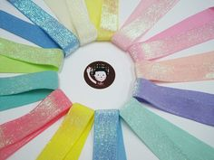 5 yards of Wide Glitter Ribbon select color that you want Cream Light Yellow Soft Pink Carnation Pink Peach Pink Lilac Light Blue Mint Sky Blue Aqua Green Coral Pink Bright Yellow Lime Green -Length: 5 yards -Wide size: cm Wholesale Ribbon, How To Make Headbands, Glitter Ribbon, Purse Handles, Velvet Ribbon, Carnations, Coral Pink, Fun Projects, Decorative Pillows